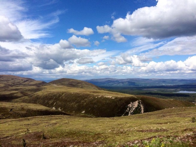 dramatic skies over the Cairngorms