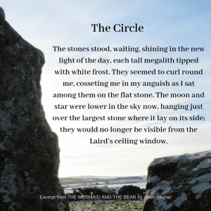 Stone circle quote from The Mermaid and the Bear