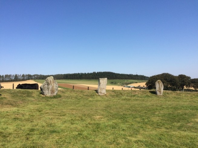 straight line of stones