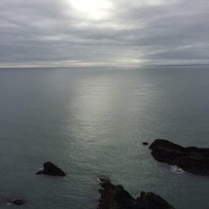 silvery ocean