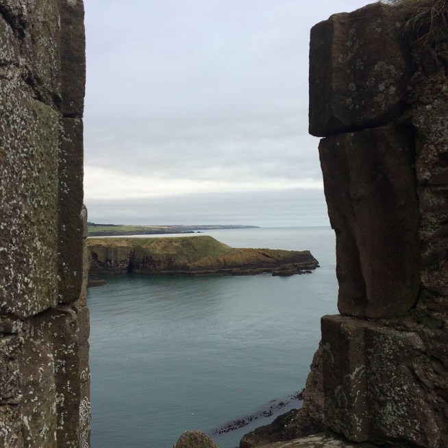 sea view at Dunnottar Castle