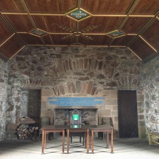 drawing room at Dunnottar Castle
