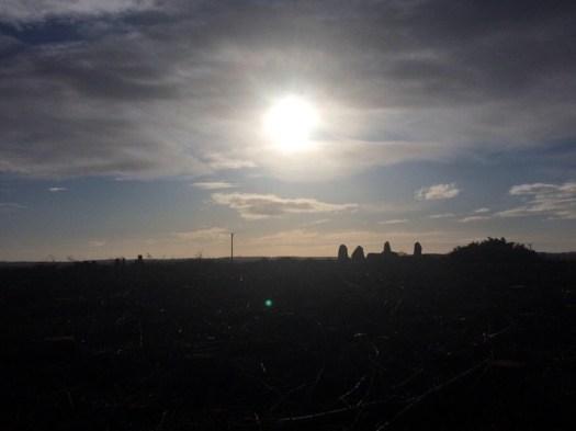 Megalithic stones on the horizon