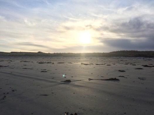 Light at Rosehearty beach
