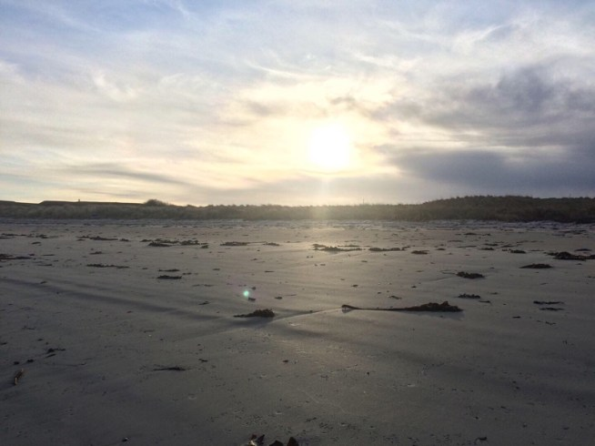 Light at Rosehearty beach