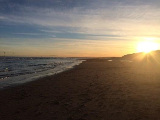 Balmedie Beach at midwinter