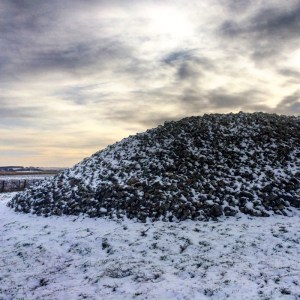 Memsie Burial Cairn in the snow