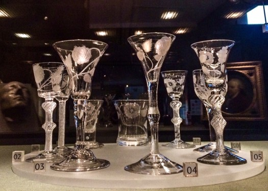 Jacobite wine glasses at Culloden visitor centre
