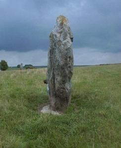 Peeking round a stone at Avebury