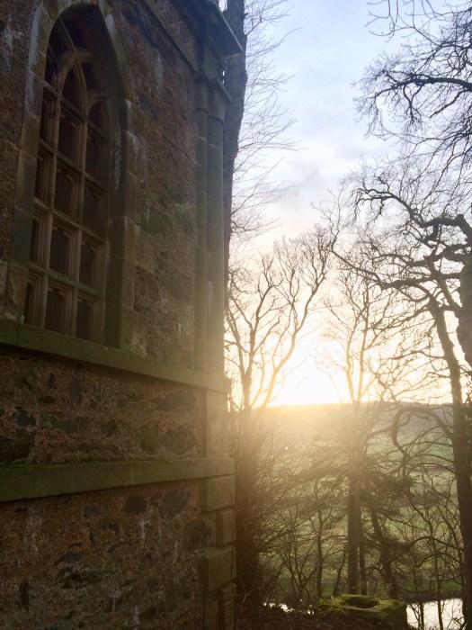 writerly times: sunlight by a mausoleum