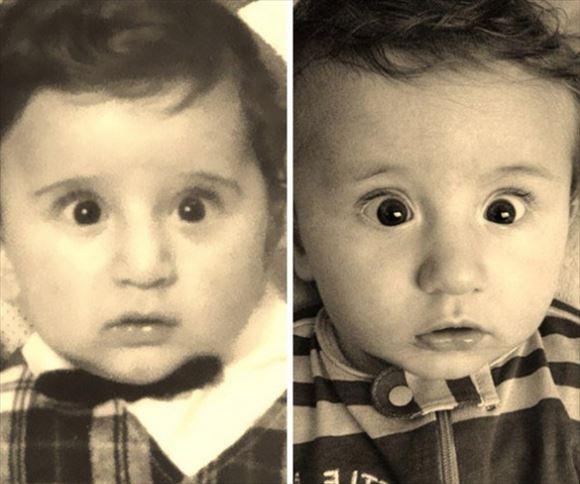 すさまじい遺伝子!そっくりすぎる親子の写真