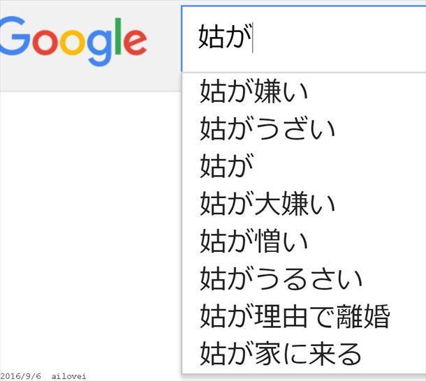 Google検索の本当にひどい・面白い予測変換