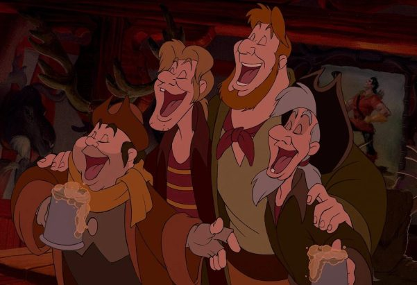 Tom, Dick, and Stanley in the original animated version of `Beauty and the Beast`