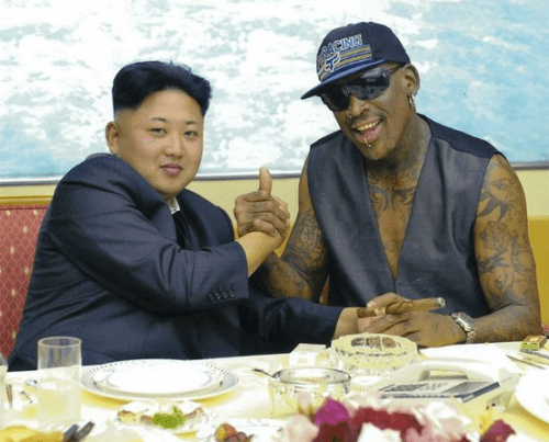 Rodman with Kim Jong Un