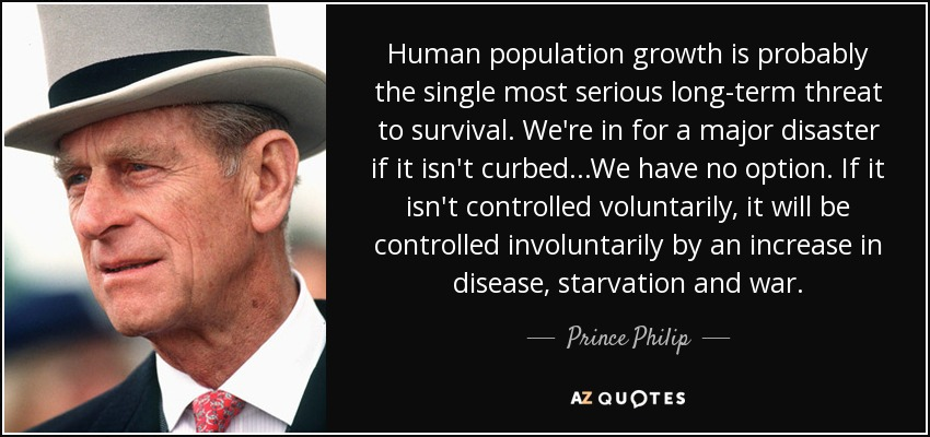 Prince philip on depopulation
