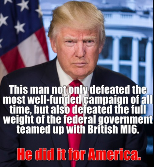 Trump did it for America