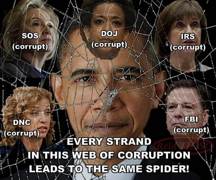 spider web obama in middle