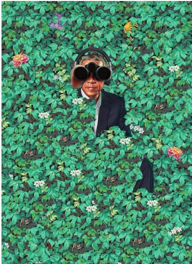 obama in bushes