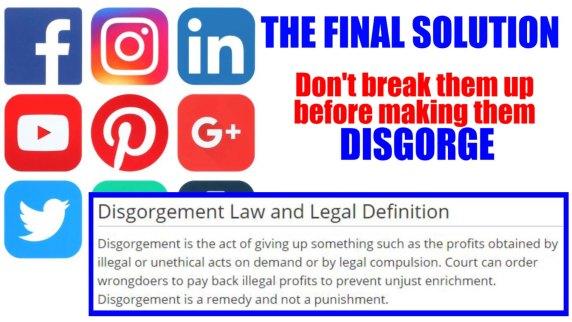 Disgorge social media