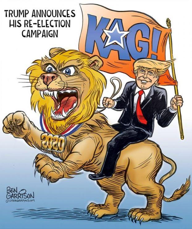 trump lion kag maga 2020