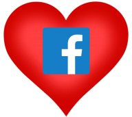 facebook heart love