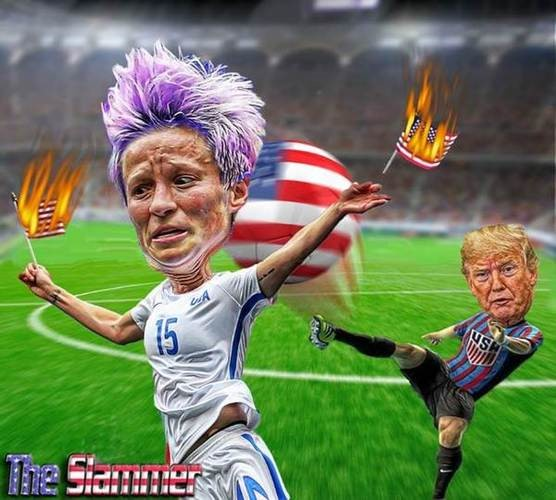 trump soccer player