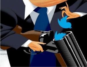 trump twitter gun