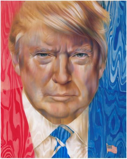 trump on wood painting.JPG