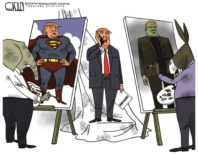 trump superman frankenstein