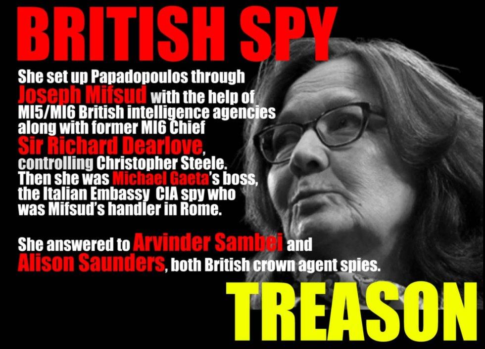 gina haspel treason spy