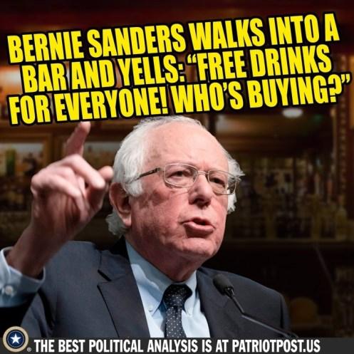 bernie sanders free beer