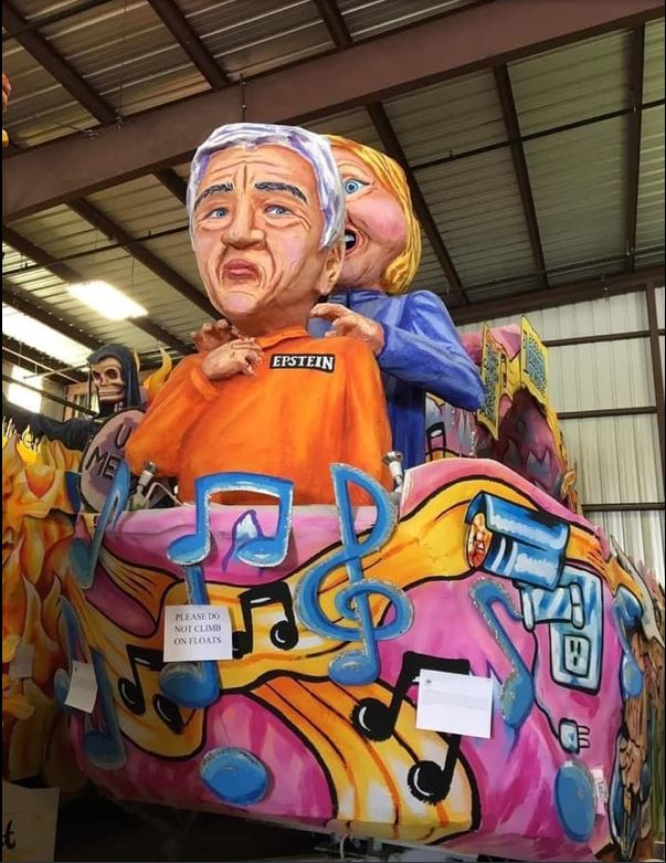 epstein hillary clinton float