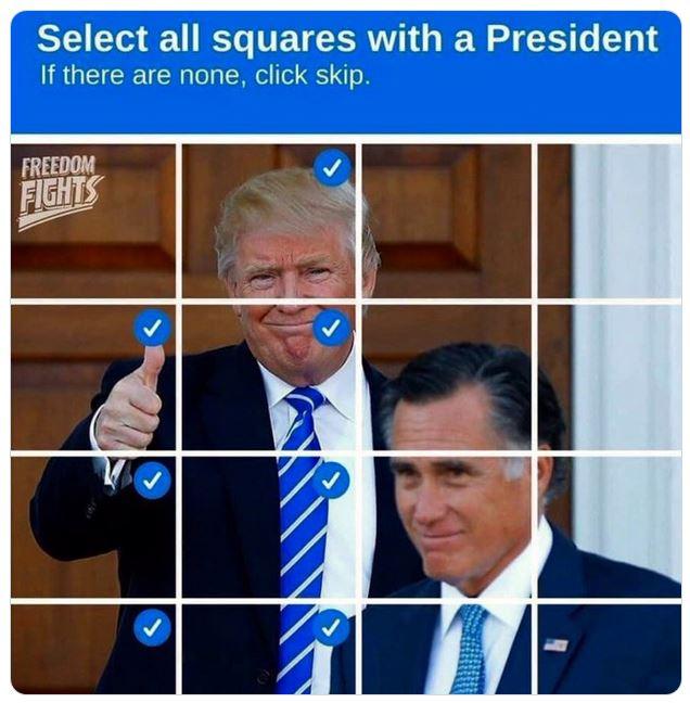 romney trump squares