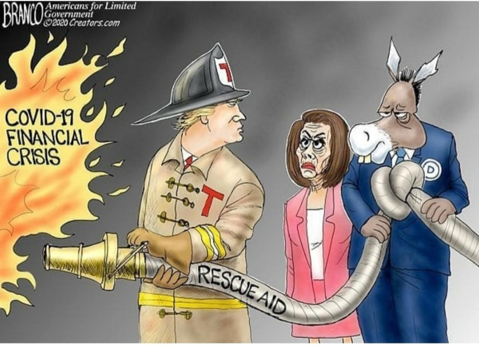 branco trump pelosi coronavirus financial