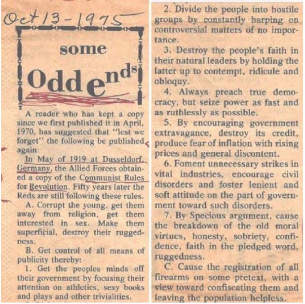 communist newspaper article