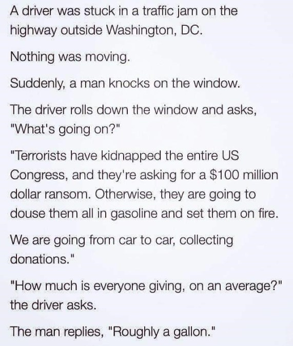 joke gasoline congress