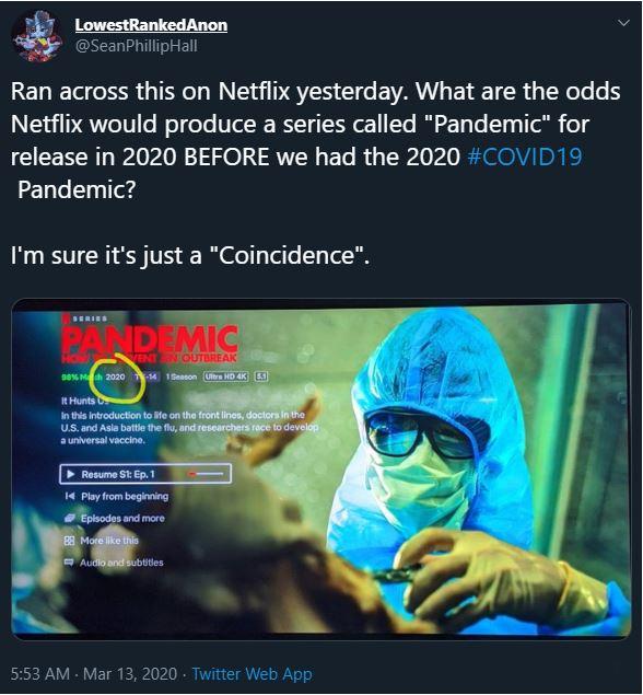 pandemic netflix