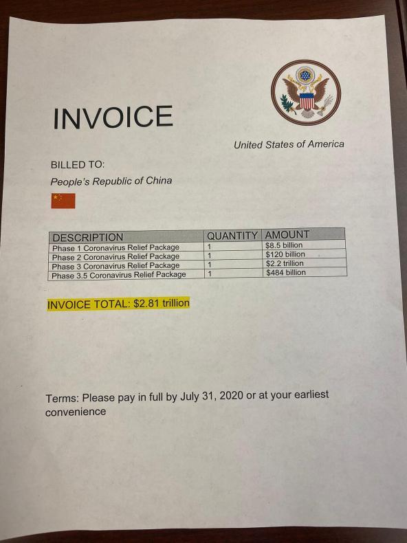 Invoice to china