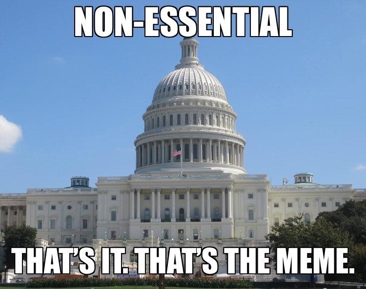 non essential government