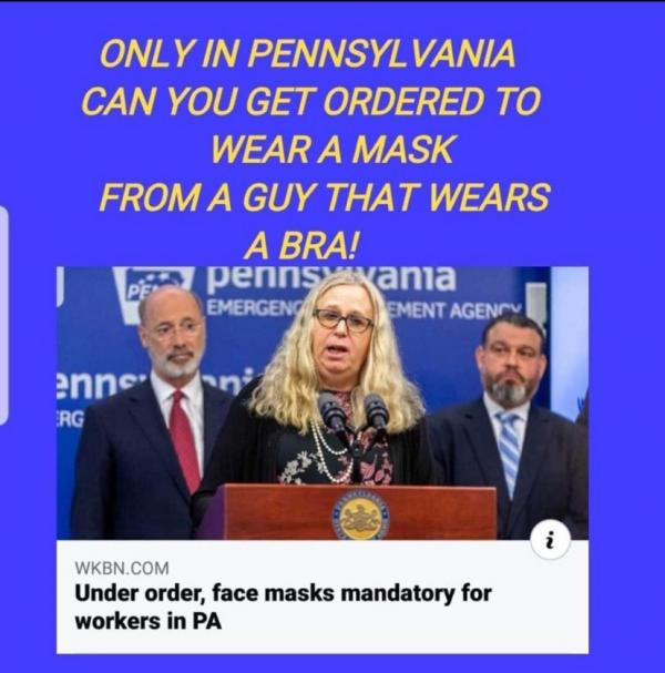pennsylvania corona mask