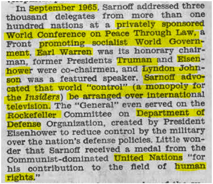sarnoff september 1965