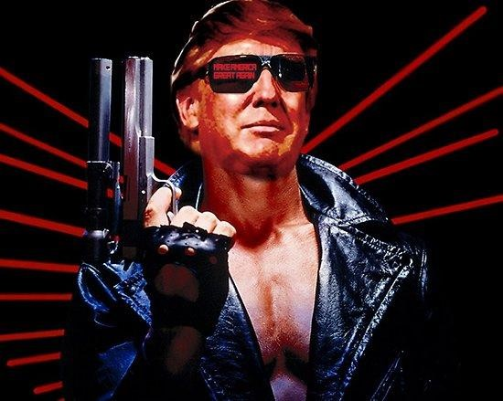 trump with gun