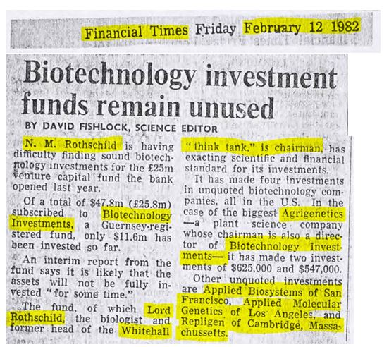biotechnology rothschild