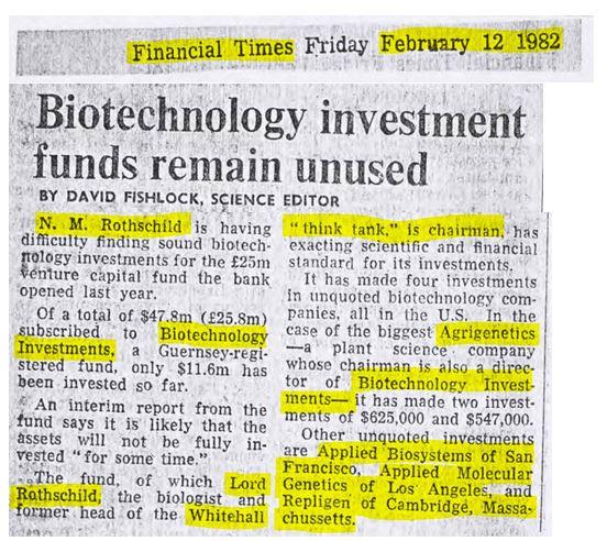 biotechnology rothschild