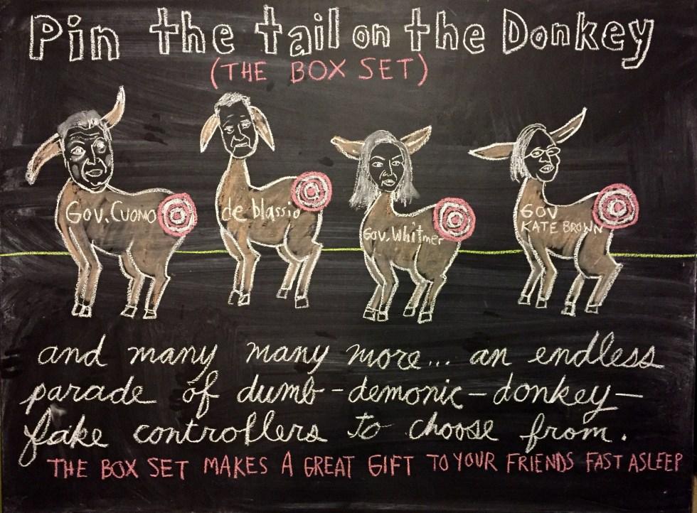 chalk donkey