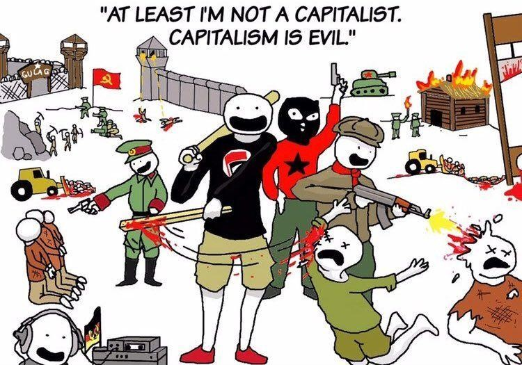 evil socialism capitalism