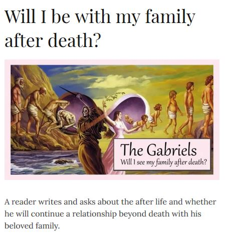 family after death