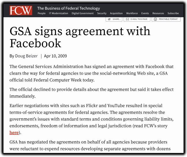 gsa facebook