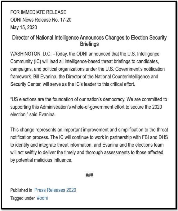 intelligence briefings