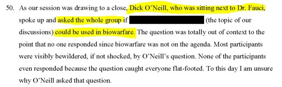 Whistleblower. (May 11, 2020). First Amended Whistleblower Affidavit re. Highlands Group illegal DARPA technology weaponization meetings, Sec. 50. Anonymous Patriots.